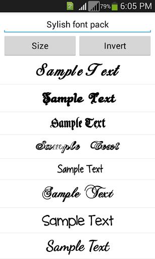 Stylish Fonts 1.14 screenshots 4