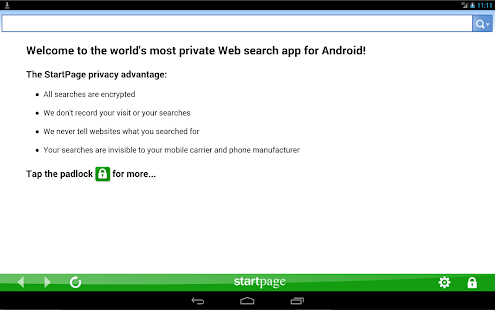 StartPage Private Search - screenshot thumbnail