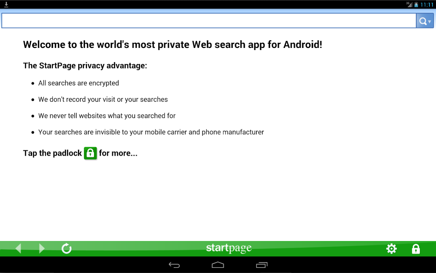 StartPage Private Search - Android Apps on Google Play