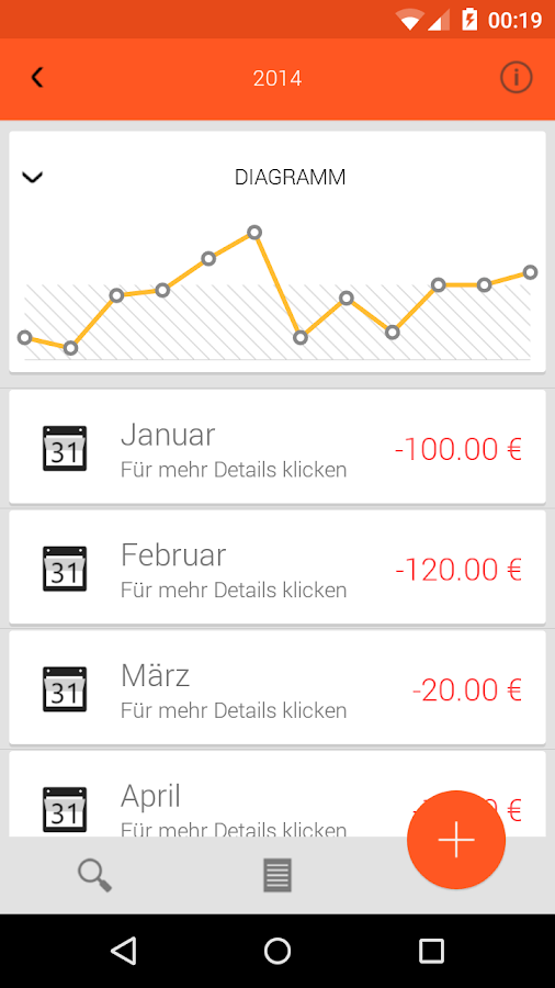 WatchYourCash-Cash Tracker - screenshot