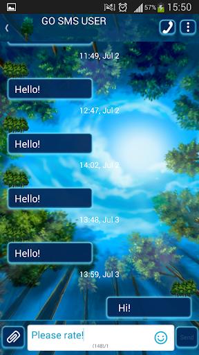 GO短信加强版夏季的天空