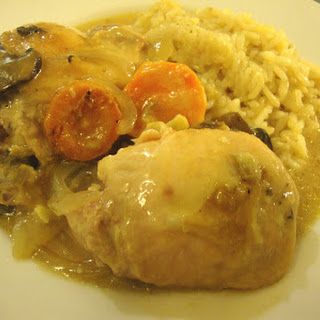 Creamy Herb Chicken with Vegetables.