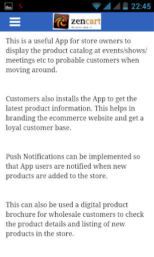 Zencart Catalog Mobile App