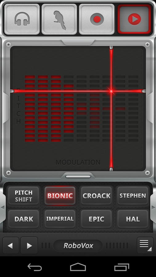 RoboVox Voice Changer Pro- screenshot