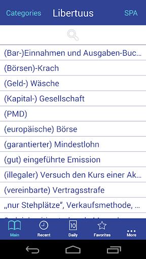 Wirtschaft Wörterbuch De-Es