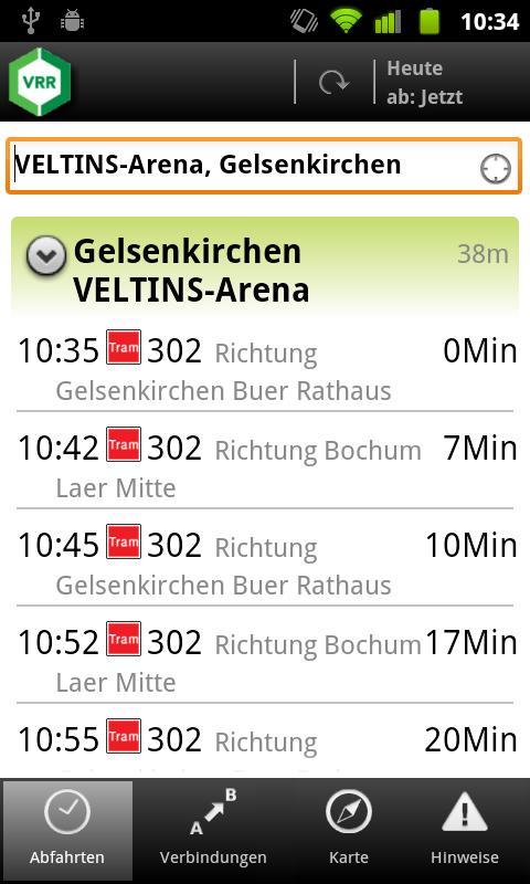 VRR App- screenshot