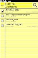 Screenshot of My ToDo List (Free Version)