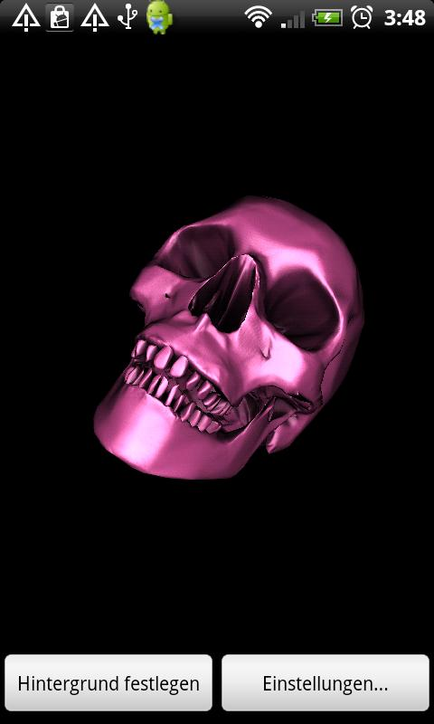 Skull 3D Wallpaper - screenshot