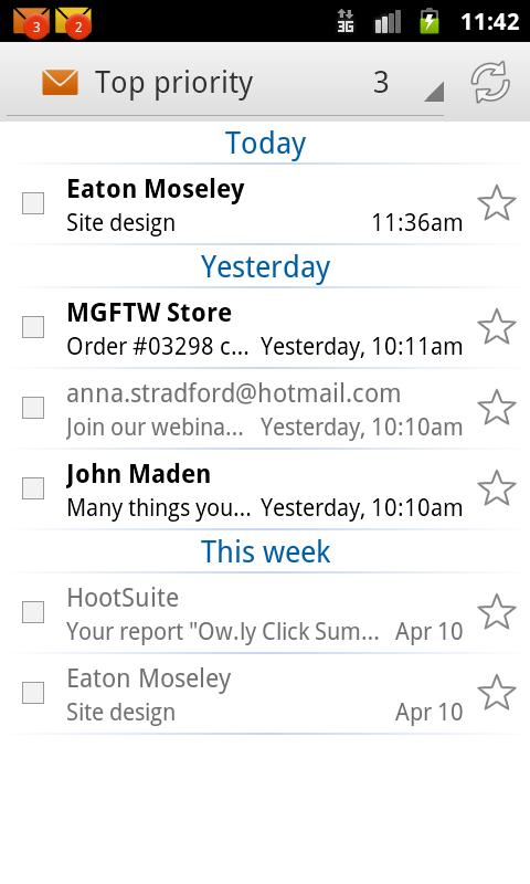 EmailTray Email App- screenshot