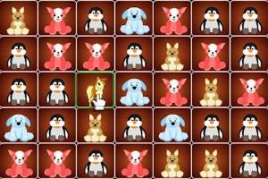 Screenshot of Cute animals match 3 game