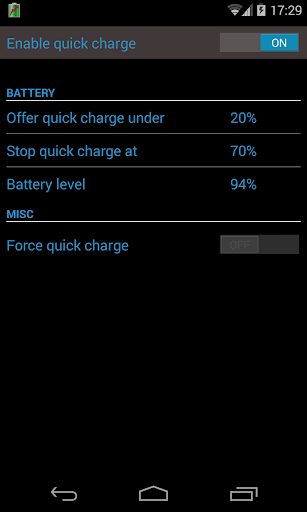 Quick Charge For Nexus