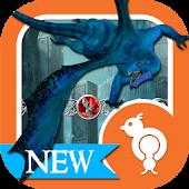 Blue Dragon Fantasy Theme SMS