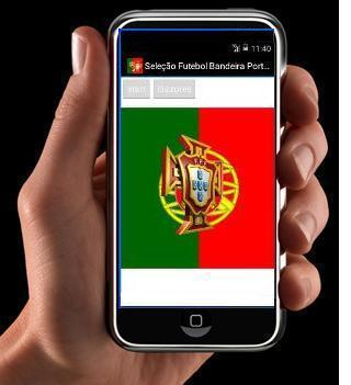 Seleção Portugal com Bandeira