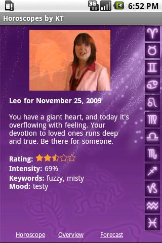 Today's Horoscope by KT - screenshot
