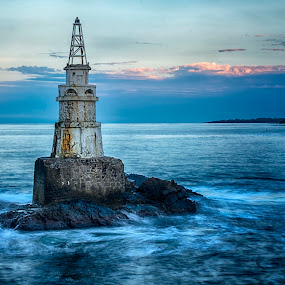 Ahtopol by Ева Йорданова - Landscapes Waterscapes ( lighthouse, sea, night,  )