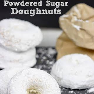 Baked Powdered Sugar Doughnuts.
