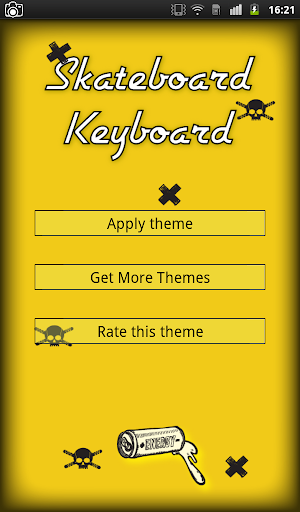 Skateboard Theme Keyboard