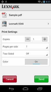 Lexmark Mobile Printing - screenshot thumbnail