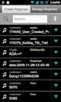 Screenshot of Make My Ringtones