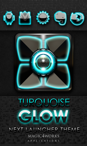 Next Launcher Theme Turquoise