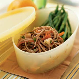 Soba Noodles with Shrimp.