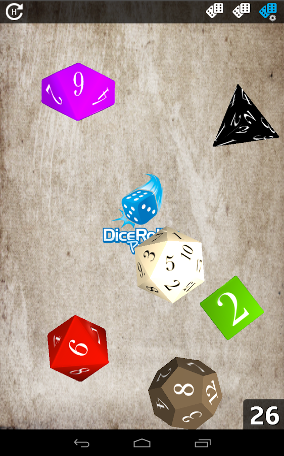 Dice Roller Pro[HD] - screenshot