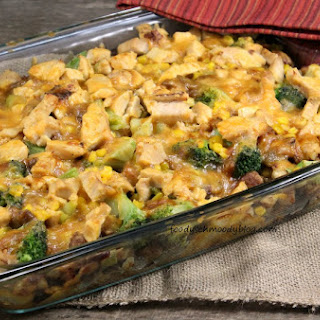 Leftover Turkey and Stuffing Casserole.