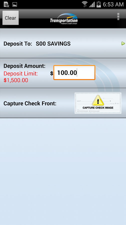 Transportation FCU Mobile - screenshot
