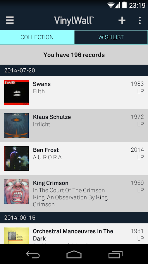 VinylWall - Your Music Library- screenshot