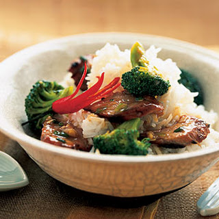 Asian Barbecued Pork with Broccoli.