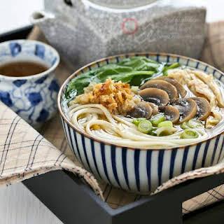 Chicken Mushroom Udon Soup.