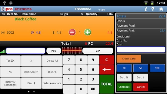 BiPOS cloud pos system - screenshot thumbnail
