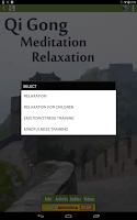Screenshot of Qi Gong Meditation Relaxation