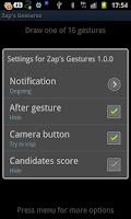 Screenshot of Zap's Gestures