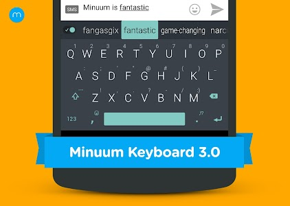 Minuum Keyboard + Smart Emoji v2.8b