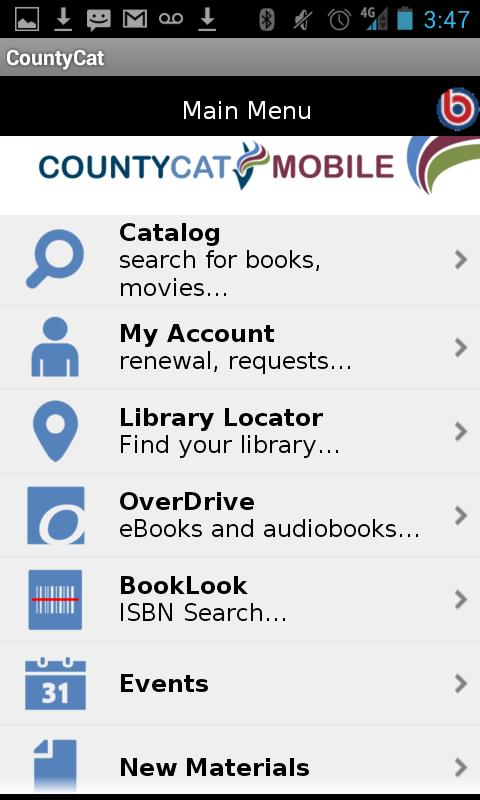 CountyCat Mobile Catalog- screenshot