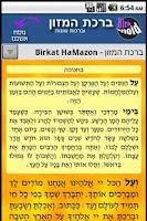 Screenshot of Birkonoid - Birkat Hamazon