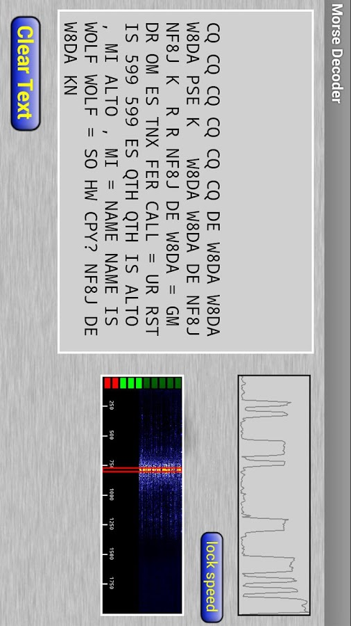 Morse Decoder for Ham Radio- screenshot