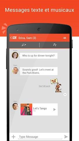 Screenshot 2 Tango Messenger,  Video,  Anrufe
