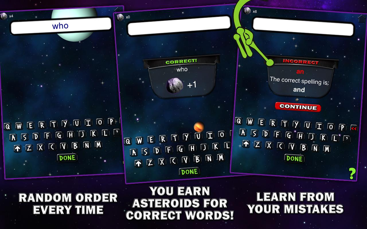 Spelling Space - 1st Grade - screenshot