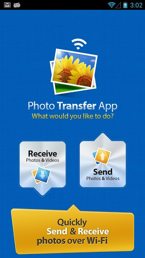 Photo Transfer App - screenshot