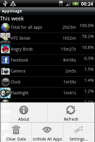AppUsage - screenshot