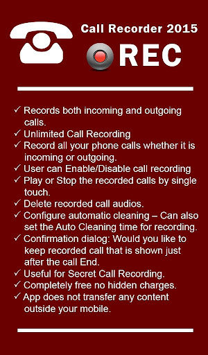 Call Recorder Optimized for LG