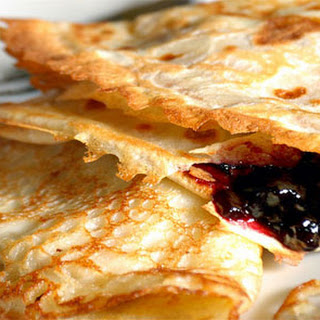 Crepes With Spicy Plum Filling