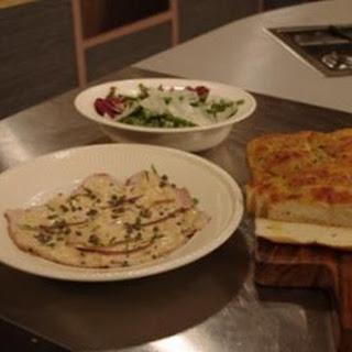 Vitello Tonnato With Green Bean Salad And Foccacia