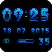 Digital Clock ANDROID BLUE