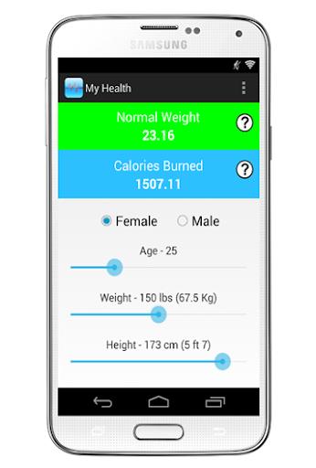 My Health - BMR Calculator
