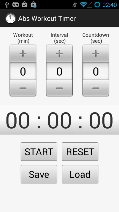 Abs Workout Timer - screenshot