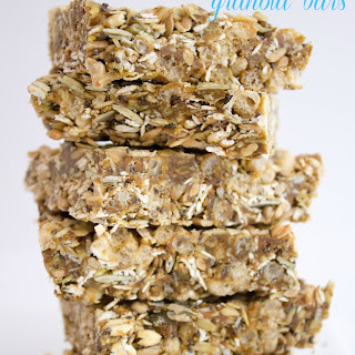 5 Minute No Bake Peanut Butter Granola Bars.