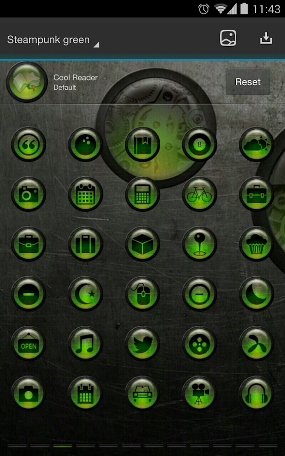 Next Launcher Theme SteampunkG - screenshot